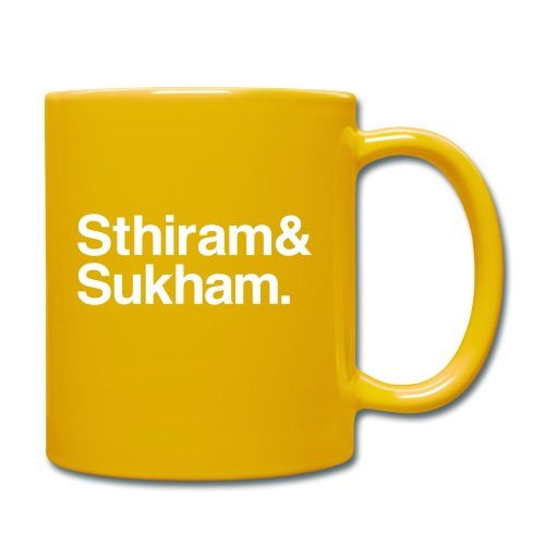 Sthiram & Sukham. - Tasse einfarbig