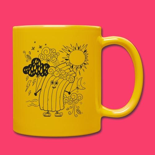 Rudi Regenbogen Wetter-Motiv zum Ausmalen - Tasse einfarbig