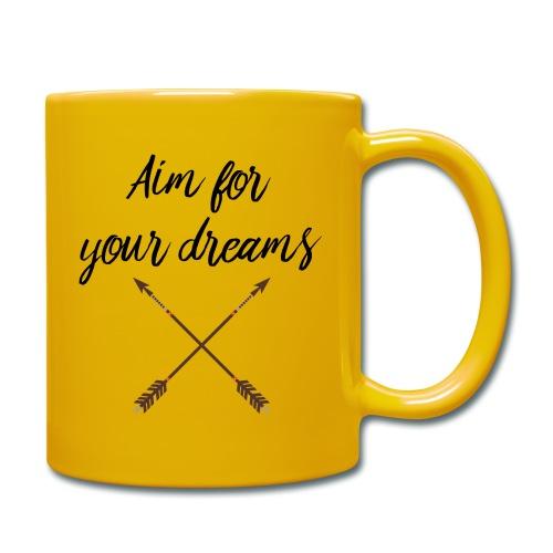 Aim for your Dreams - Yksivärinen muki