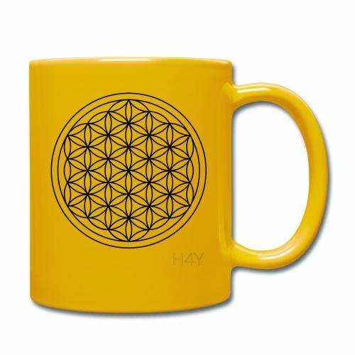 Flower Of Life - This Design Will Heal You - Ensfarvet krus
