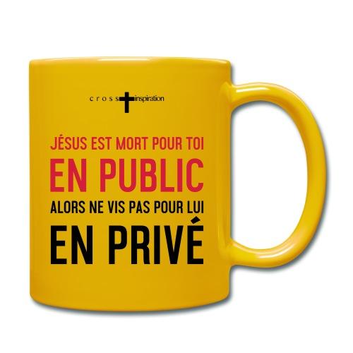 Public ou privé - Mug uni