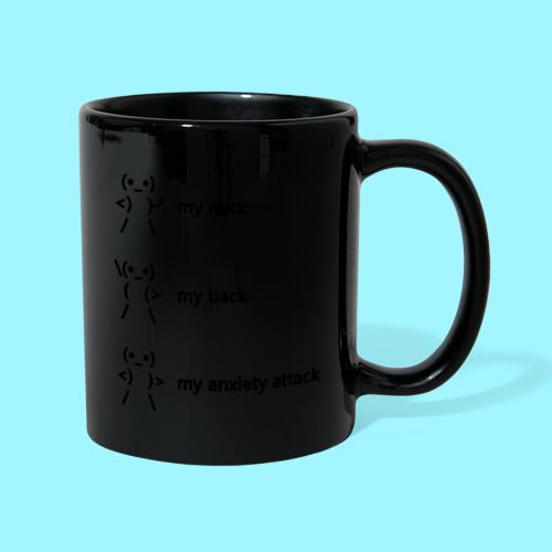 neck back anxiety attack - Full Colour Mug