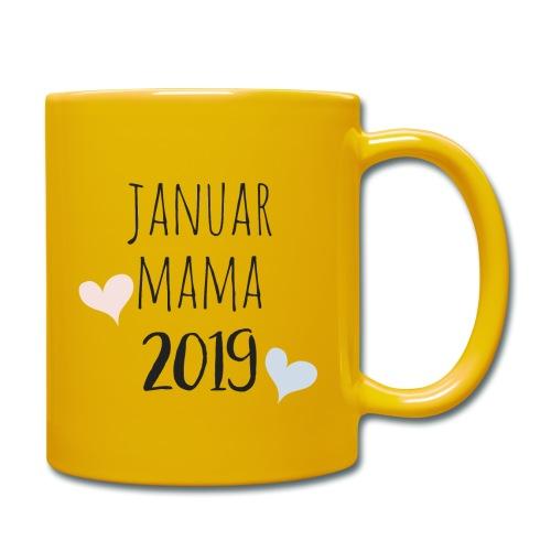 Januar Mama 2019 - Tasse einfarbig