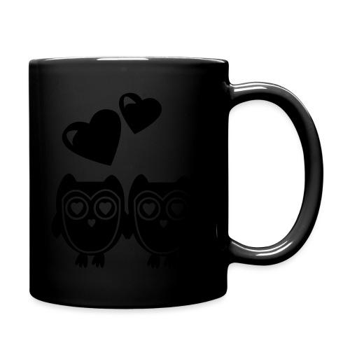 verliebte Eulen - Tasse einfarbig