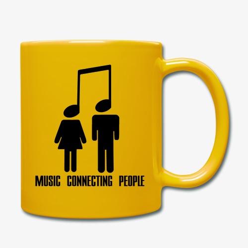 Music Connecting People - Tasse einfarbig