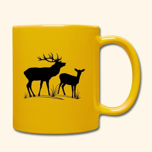 Hirsch, Reh, Rotwild, Damwild, Wald, Tiere, Rehe - Tasse einfarbig