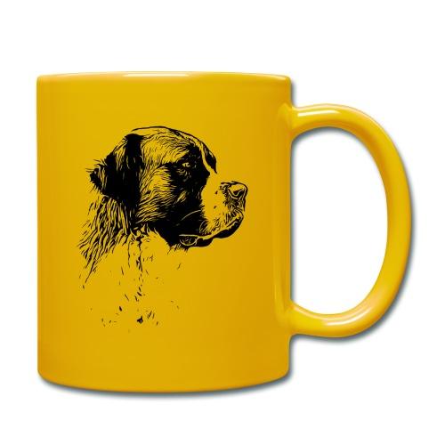 Bernhardiner Hunde Design Geschenkidee - Tasse einfarbig