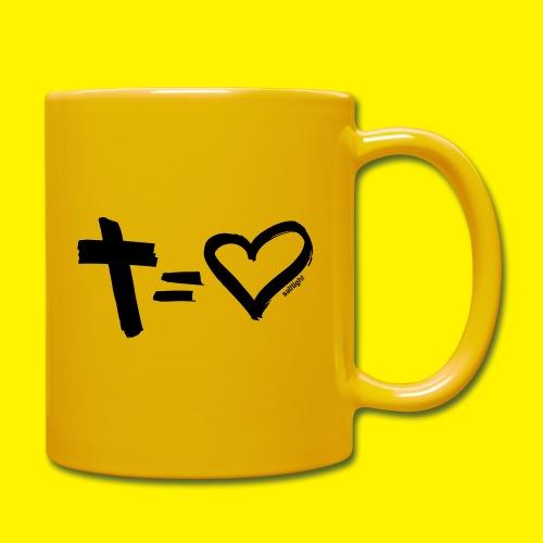 Cross = Heart BLACK - Full Colour Mug