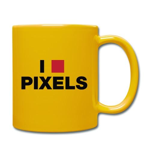 I Love Pixels - Ensfarvet krus