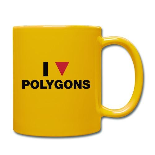 I Love Polygons - Ensfarvet krus