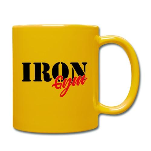 iron gym logo black - Taza de un color