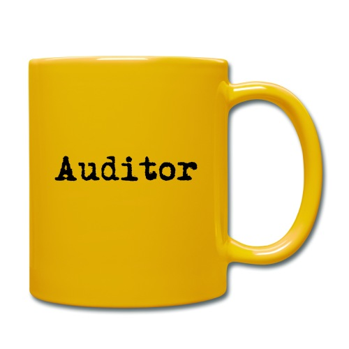 auditor typewriter black - Tasse einfarbig