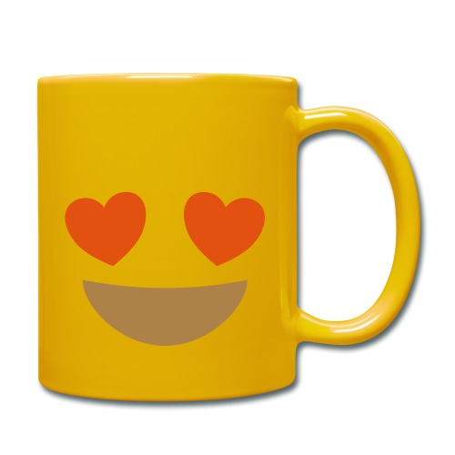 Emoji smiling face with heart eyes - Full Colour Mug