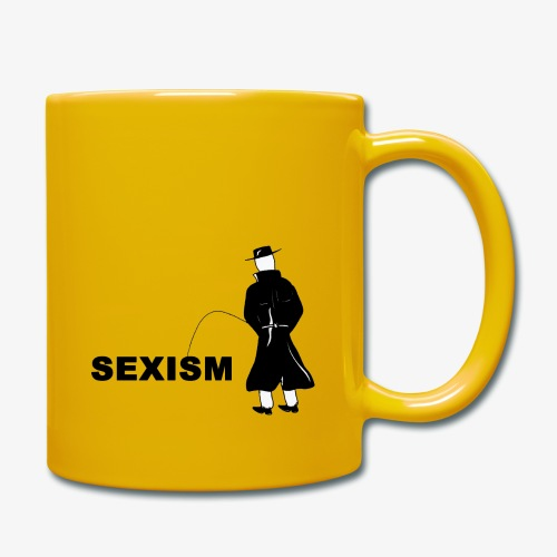 Pissing Man against sexism - Tasse einfarbig