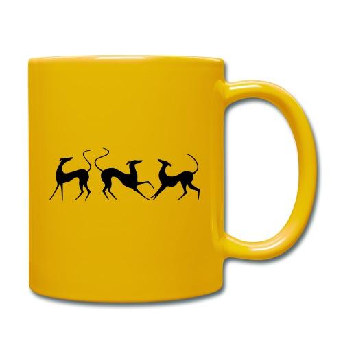 Windhundfries - Tasse einfarbig