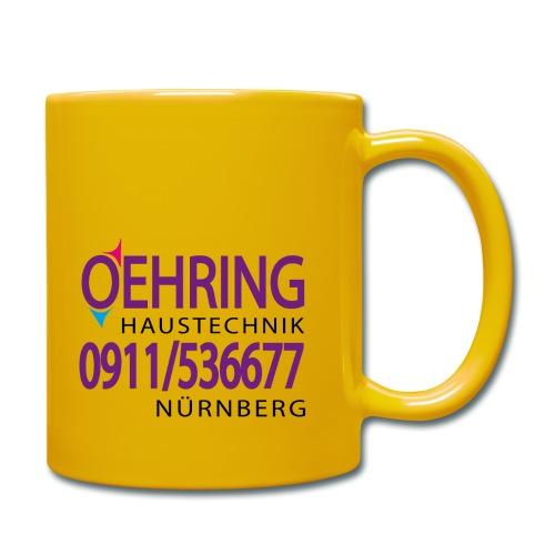 Firma Oehring - Tasse einfarbig