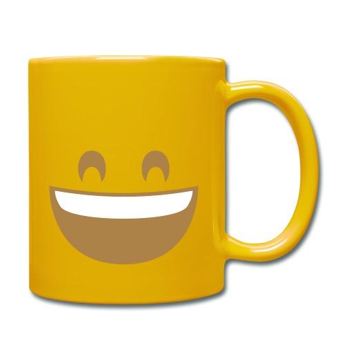 Emoji grinning face with smiling eyes print - Full Colour Mug