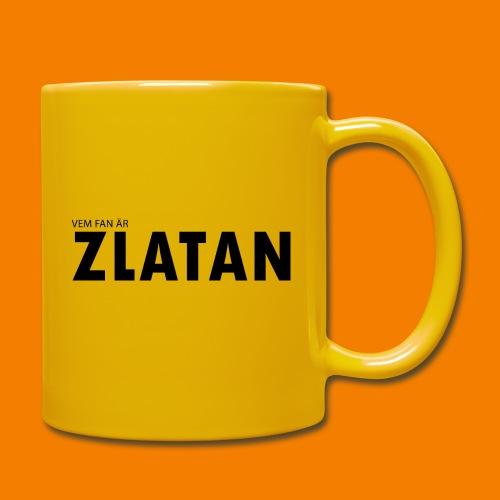 Vem fan är Zlatan - Enfärgad mugg
