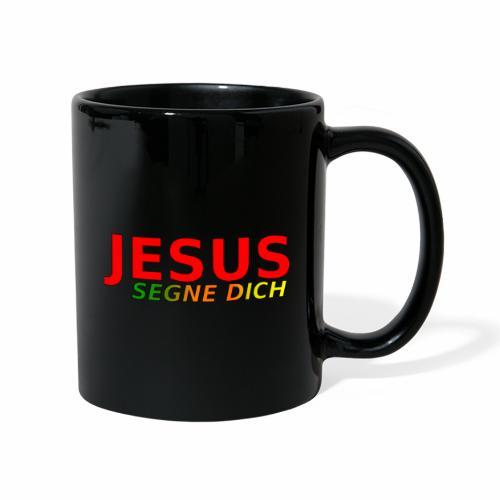 JESUS segne dich - bunt - Tasse einfarbig