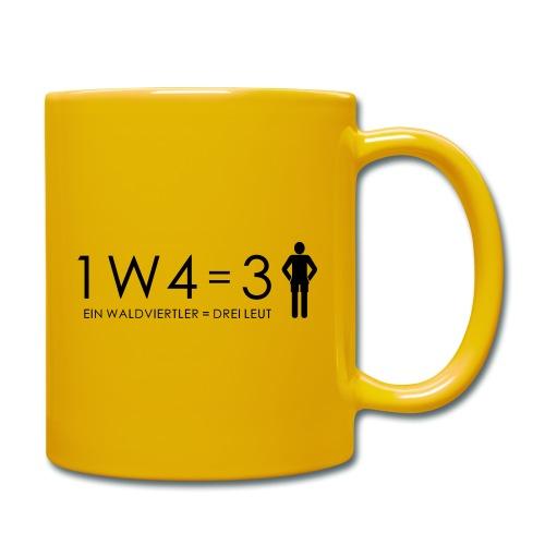 1W4 3L = Ein Waldviertler ist drei Leute - Tasse einfarbig