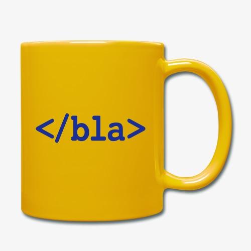 Bla HTML - Tasse einfarbig