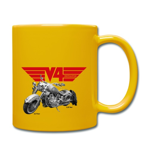 V4 Motorcycles red Wings - Tasse einfarbig