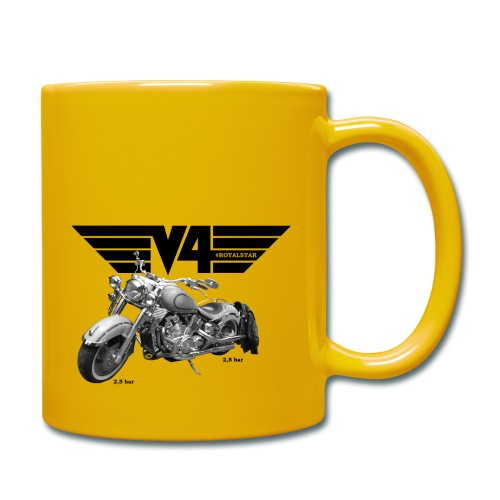 V4 Motorcycles black Wings - Tasse einfarbig