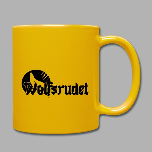 Logo Wolfsrudel EPS - Tasse einfarbig