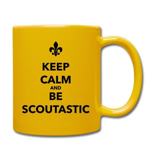 Keep calm and be scoutastic - Farbe frei wählbar - Tasse einfarbig
