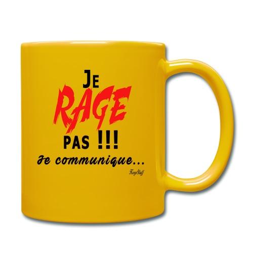 Je rage pas je communique Noir Rouge - Mug uni