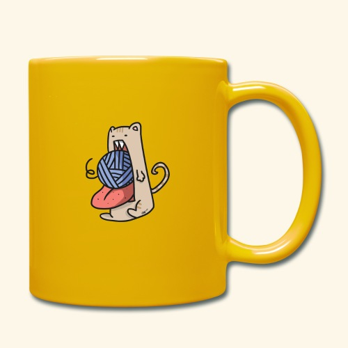 the eat-all-you-can cat - Full Colour Mug