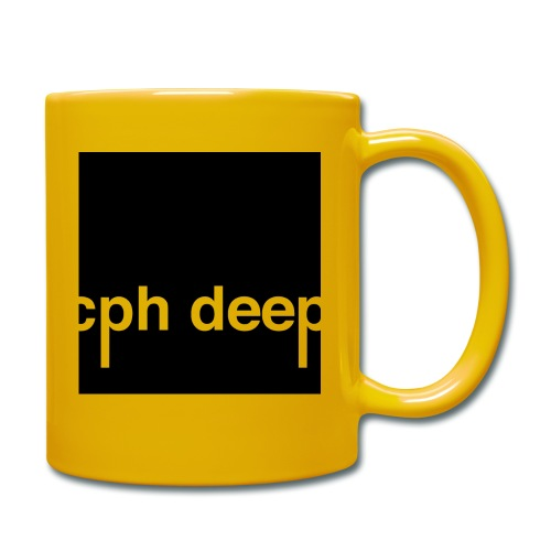 cph deep logo - Ensfarvet krus