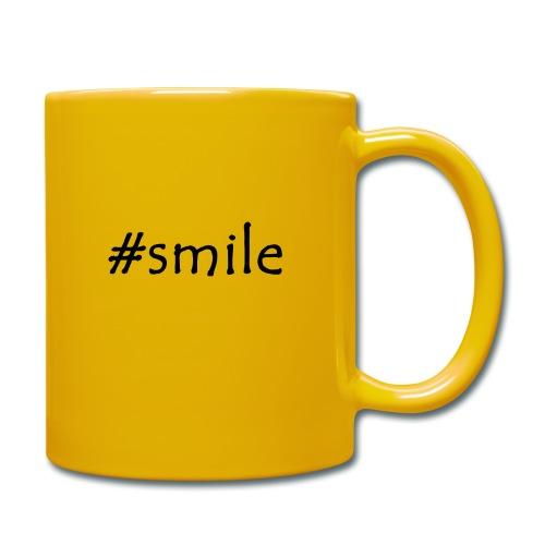 smile - Tasse einfarbig