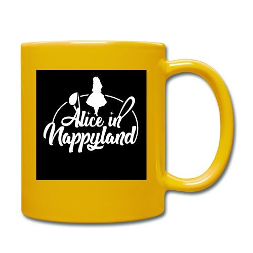 Alice in Nappyland TypographyWhite 1080 - Full Colour Mug