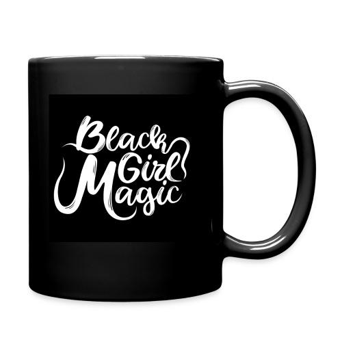 Black Girl Magic 1 White Text - Full Colour Mug