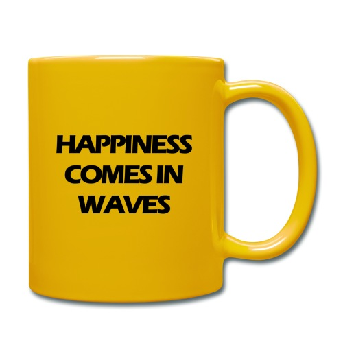 Happiness comes in waves - Enfärgad mugg
