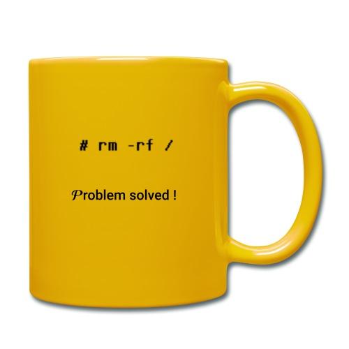 rm -rf Problem Solved - noir - Mug uni
