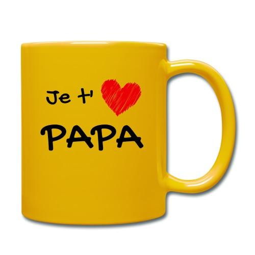 t-shirt fete des pères je t'aime papa - Mug uni