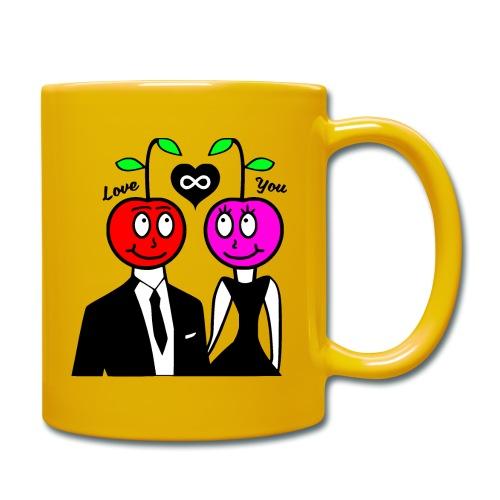 Happy Kirsche - Tasse einfarbig
