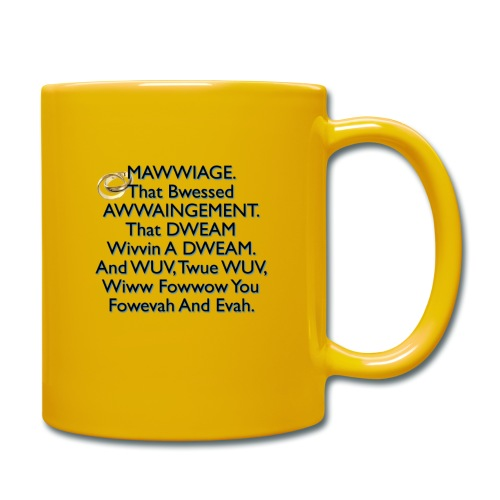 Mawwiage (blue) - Full Colour Mug