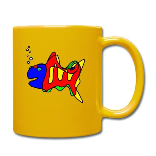 Fisch ....Tusche Fisch - Tasse einfarbig