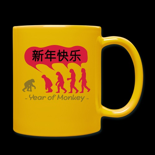 kung hei fat choi monkey - Full Colour Mug