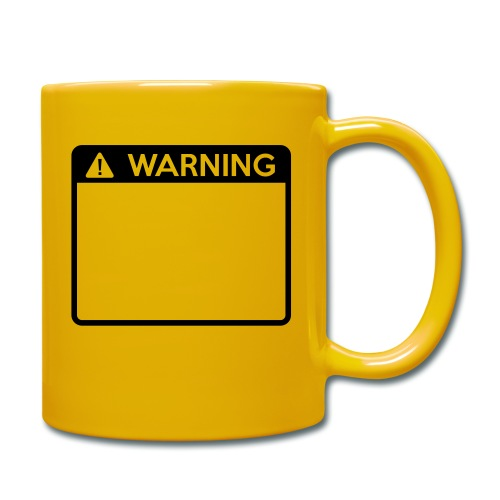 Warning Sign (1 colour) - Full Colour Mug