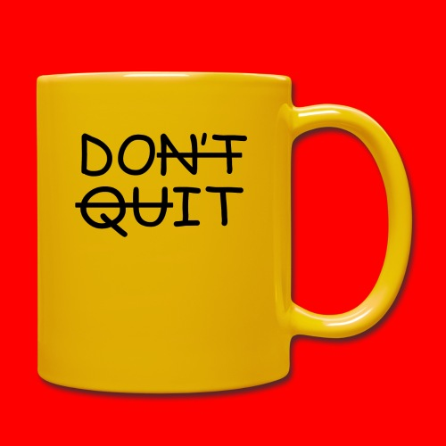 Don't Quit, Do It - Ensfarvet krus