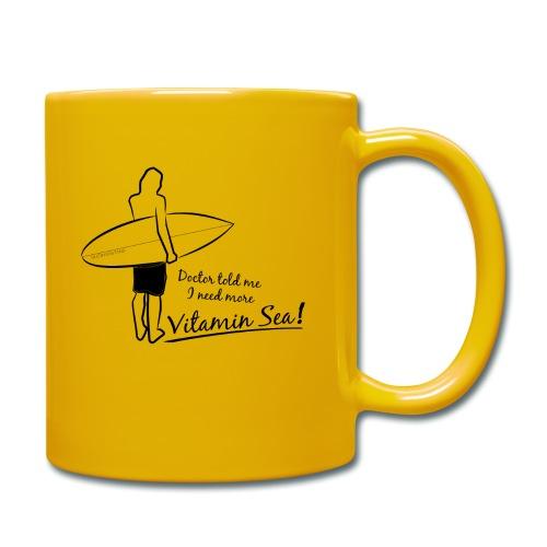 Surfer Vitamin Sea by Querverstand - Tasse einfarbig