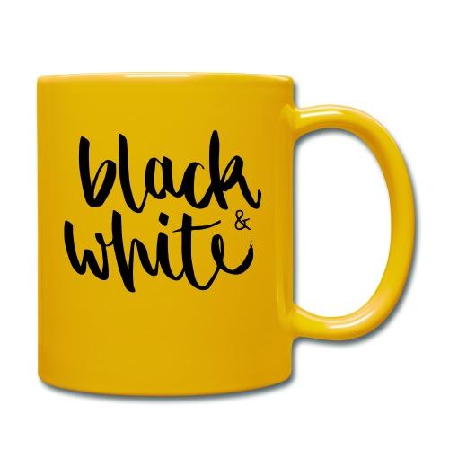 black&white1 - Tasse einfarbig