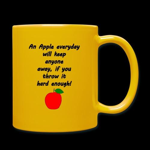 Apple Apfel Doctor Zitat Spruch Lustig - Tasse einfarbig