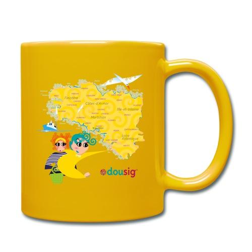 Carte de la Bretagne Dousig - Mug uni