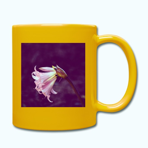 Flower At Night Watercolor Minimalism - Full Colour Mug