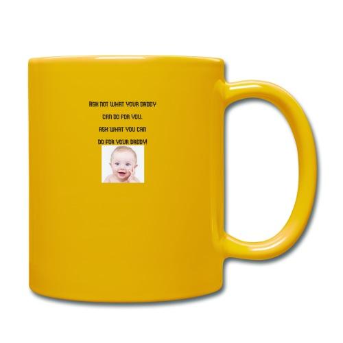 daddy tshirt sort tekst - Full Colour Mug